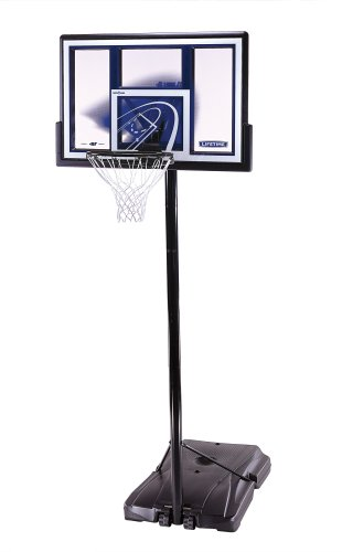 Lifetime 1479 Courtside Height-Adjustable Portable Basketball System with 48-Inch Shatter Guard Fusion Backboard by Lifetime