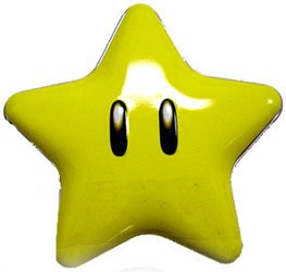New Super Mario Brothers Super Star Tin(one) with star candies inside - Mario Bros Costumes Uk