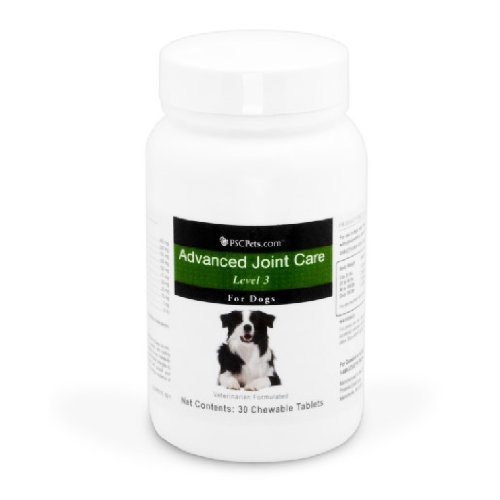 PSCPets Advanced Joint Care Level 3 Chewable Tablets for Dogs, 30 Tablets