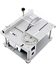 Multi-Functional Table Saw, 150W, 3000rpm Mini Desktop Saw Cutter Electric Cutting Machine with Adjustable-Speed Angle 40MM Cutting Depth for Wood Plastic Acrylic Cutting