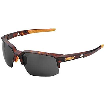 Image of 100% Unisex-Adult Speedlab (61031-257-57) Speedcoupe-Matte Dark Havana-Smoke Lens, Free Size) Sunglasses
