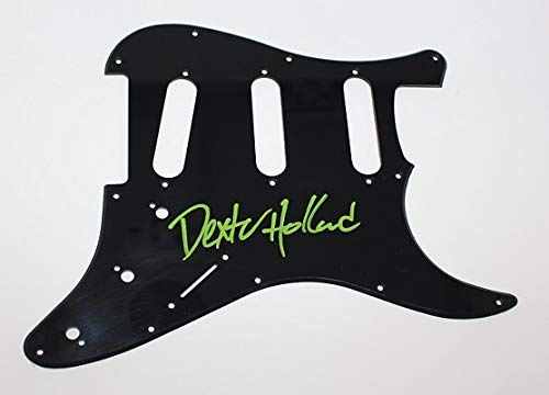 - Dexter Holland The Offspring Smash Come Out and Play Signed Autographed Fender Strat Electric Guitar Pickguard Loa