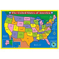 Amazon.com: Educational Floor Jigsaw Puzzle U.S. United States Map ...