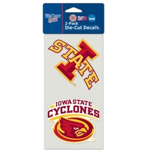 WinCraft NCAA Iowa State University Perfect Cut Decal (Set of 2), 4