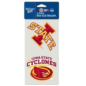 NCAA Iowa State University Perfect Cut Decal (Set of 2), 4