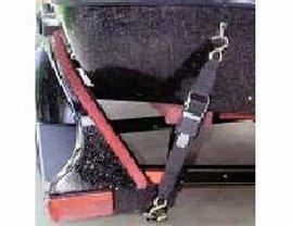 Rod Saver 2PB2VP Paddle Buckle Transom Tie-Down w/Orange Pads - 2'' X 2'' by Rod Saver