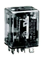 (NTE Electronics R14-11D10-12 Series R14 General Purpose DC Relay, DPDT Contact Arrangement, 10 Amp, 12 VDC)