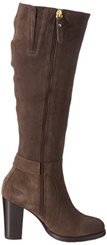 Femme B1285arcelona Hilfiger black Bottes Coffee 6b Marron Tommy IB4vxI