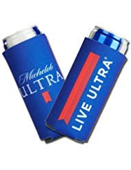 2019 Michelob Ultra Slim Line Can Cooler -2 PACK Coolie LIVE ULTRA by Michelob Ultra