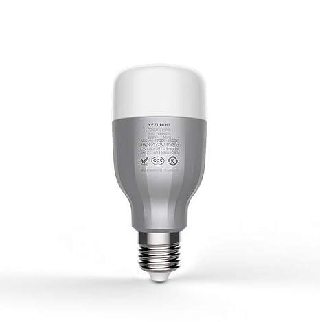 Decora - Bombilla de calidad WiFi E27 9 W RGB regulable LED bombillas WiFi mando a distancia Smart bombilla 600 lm funciona - Multicolor Smart WiFi ...