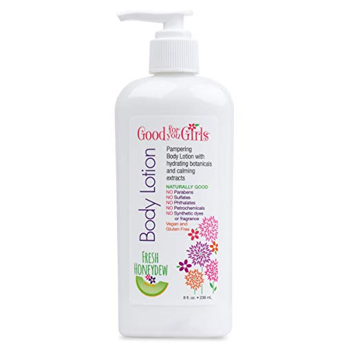 Good For You Girls Body Lotion with Hydrating Botanicals and Calming Extract, Fresh Honeydew scent, 8 oz