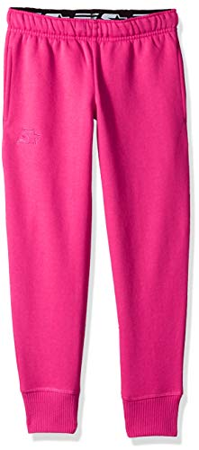 Embroidered Sweatpants - Starter Girls' Jogger Sweatpants with Pockets, Amazon Exclusive, Power Pink with Embroidered Logo, L (10/12)