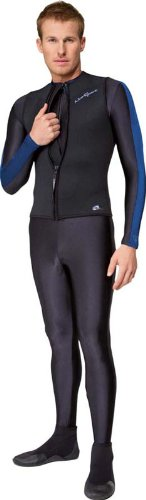 NeoSport Wetsuits Men's Premium Neoprene 2.5mm Zipper Vest, Black, XXX-Large - Diving, Snorkeling & - Triathlete Wetsuit
