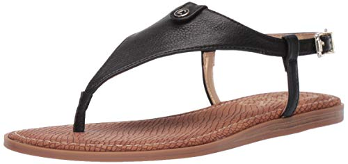 Circus by Sam Edelman Women's Carolina Flat Sandal, Black Tumbled Bolt, 6 M US