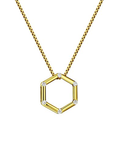 Mints Sterling Honeycomb Necklace Zirconia product image