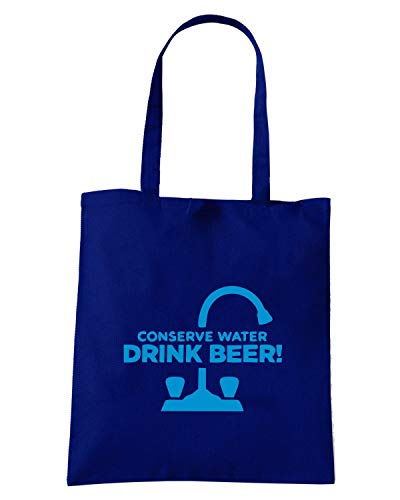 Speed Shirt Borsa Shopper Blu Navy BEER0198 CONSERVE WATER