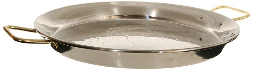 Garcima 22-Inch Stainless Steel Paella Pan, 55cm