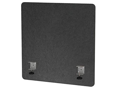"VaRoom Acoustic Partition, Sound Absorbing Desk Divider – 24"" W x 24""H Privacy Desk Mounted Cubicle Panel, Slate Grey by VaRoom (Image #1)"