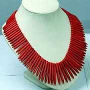 Turquoise Bead Collar - Jewelry Fashion Red Howlite Turquoise Stone Loose Spike Beads Necklace Choker Collar