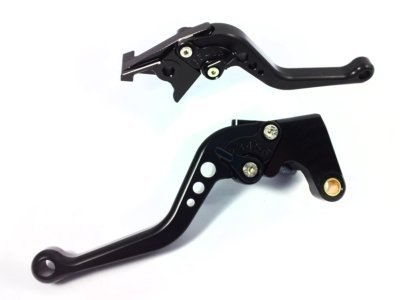 POWTEC PTB-156 Adjustable short Brake and Clutch Levers for KAWASAKI W800-COMPLETE BLACK