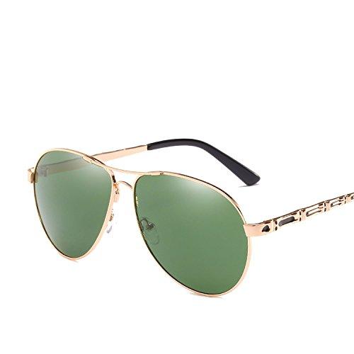 Fashion Metal Polarized Men's Women's Mirrors Drive Sunglasses,Silver frame gray (polarized) (Tea Party Framed)