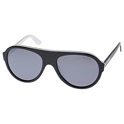 CARRERAWORLD Gafas de Sol para Hombre - Negras y Blancas ...