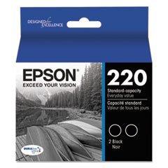T220120D2 (220) DURABrite Ultra Ink, Black, 2/Pk by 4COU -  Epson, T220120-D2