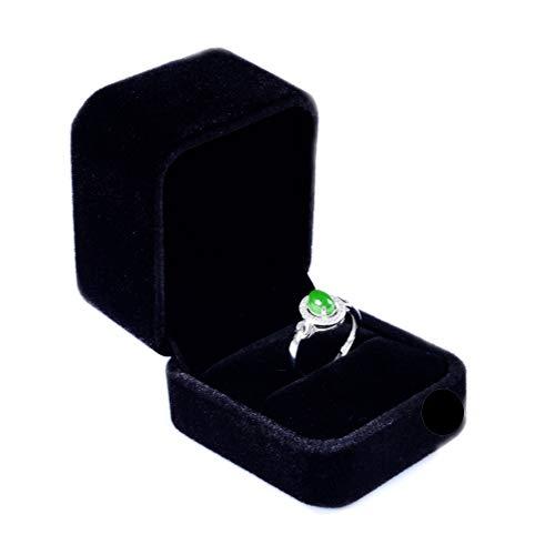 Rings 1 Box - Lily Treacy Deluxe Black Velvet Jewelry Box Bracelet Watch Ring Stud Earrings 1 or 2 Pack (1, Ring/Earrings 2.25x2x1.75)