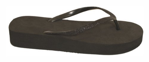 Black Women Flip Strap Black With Flop Glitter FXqFHx