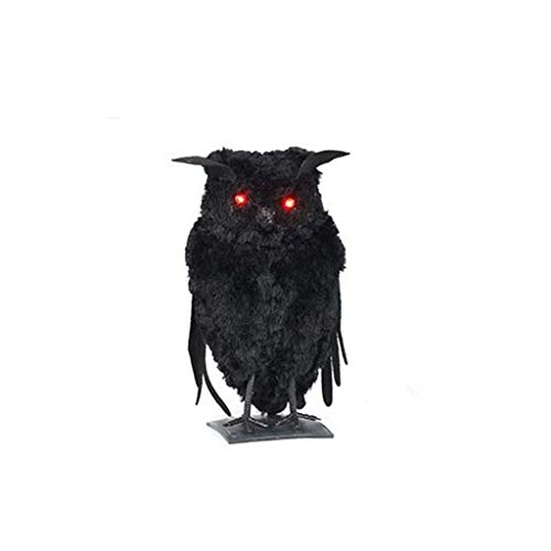 Animated Owl Halloween (youeneom Halloween Props Layout Decoration,Simulated Owl Crow Black Cat Spooky Halloween Decoration, Spooky, Creepy, Party Supplies. Party Out-Door or Indoor)