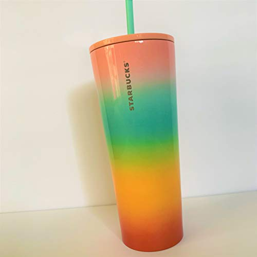 Starbucks 2019 Summer Collection Stainless Steel RAINBOW Tumbler 24 oz