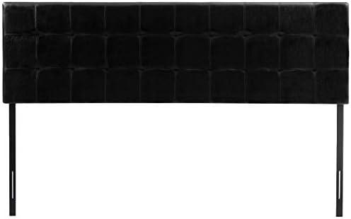 AmazonBasics Modern Tufted Vinyl Upholstered Headboard – King, Black