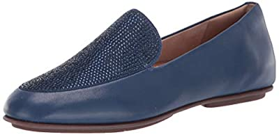 FITFLOP Women's Lena Crystal Loafers Flat