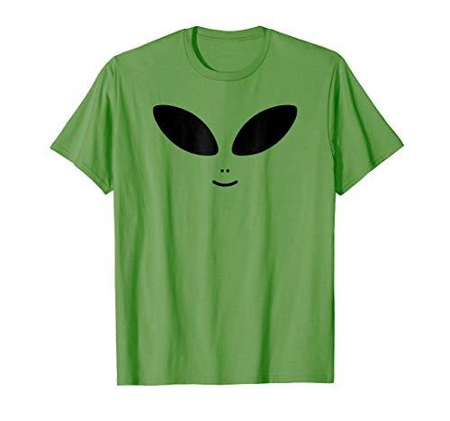 (Alien Costume T-Shirt - Halloween Cute Green Alien)
