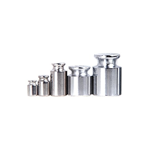 KKmoon Weight 1g 2g 5g 10g 20g Chrome Plating Calibration Gram Scale Weight Set for Digital Scale Balance