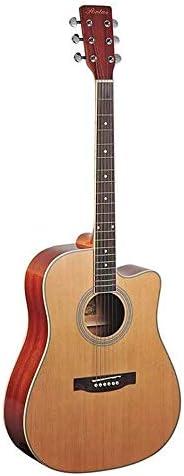 ギター アコースティックギター41インチスプルースウッドギター初心者プロフェッショナル 入門 ギター (Color : Natural, Size : 41 inches)