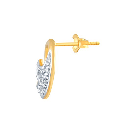 Giantti 14 carats Diamant pour femme Boucles d'oreille à tige (0.052 CT, VS/Si-clarity, Gh-colour)