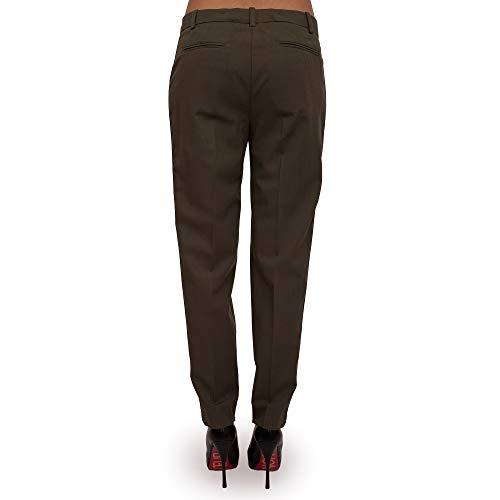 Pinko Coton Dark 42 Soap Gabardine De Femmes Pour Green x18 Pantalon rUryc6B