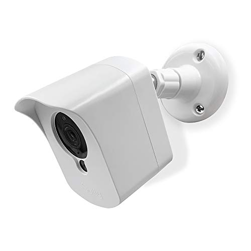 Mounting Kit for Wyze Cam (1 pcs White) - Outdoor Case for Wyze Camera & v2 1080p Full HD w/Screw Mounts - Wyze Waterproof Cover with Wall Mount Bracket - Solid Housing for Wyze Cams by SULLY