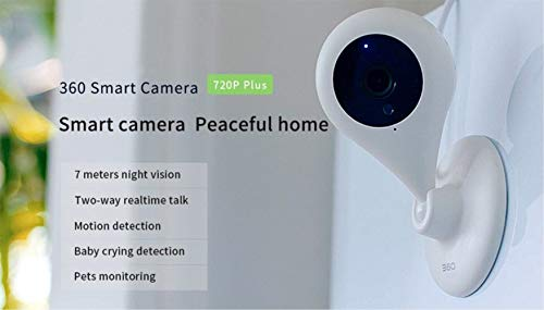 360 Home Security Camera Wireless Surveillance IP System with Two-Way Audio, Night Vision, Motion Detection Alert, Remote Monitor Smart Camera for Baby and Pet with 720P by 360 (Image #1)