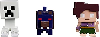 Mattel Minecraft Halloween Series Action Figure (3 Pack) - Ghost Creeper, Wolfman & Farlander
