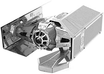 DV TIEファイター-3D金属モデルキット(銀/金/多色)パズルアセンブリゲーム (Color : Silver)