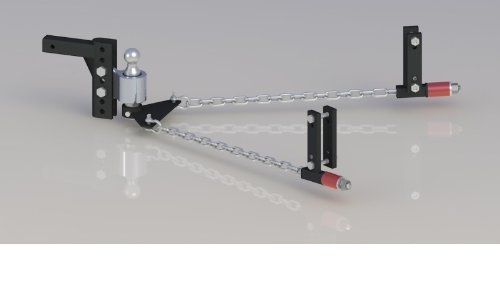 Andersen 3347 8 inch No-Sway Weight Distribution Hitch - 8'' drop/rise, 2'' ball, 4-3/8'' frame brackets by The Andersen Company