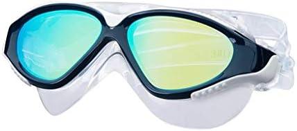 ダイビングゴーグル、大きなボックススイミングスポーツ用品ゴーグル防水防曇ゴーグルHd電気めっき男性と女性