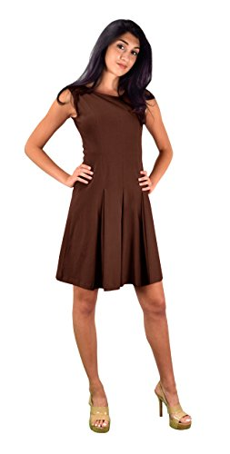 brown and coral dresses - 4