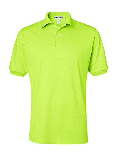 Collection Outdoors Great (Jerzees Men's Spot Shield Short Sleeve Polo Sport Shirt, Safety Green, 4X-Large)