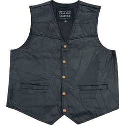 - Giovanni Navarre Italian Stone Design Genuine Leather Vest - XL