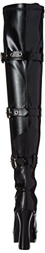 Electra Polacchine Str Blk Faux 3028 Donna Pleaser Leather vxq6TdfO