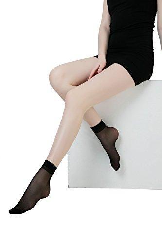 CHARHODEN 12 Pairs Women's Ultra thin Short Ankle Socks Silk Stockings soft