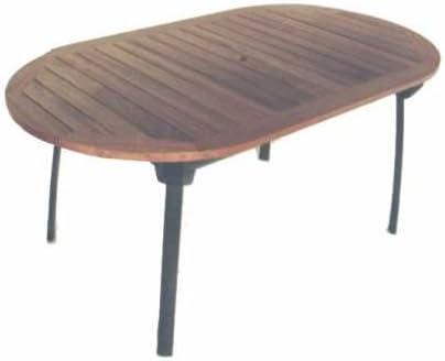 LI.G Table de Jardin en Bois balau et Aluminium: Amazon.fr ...